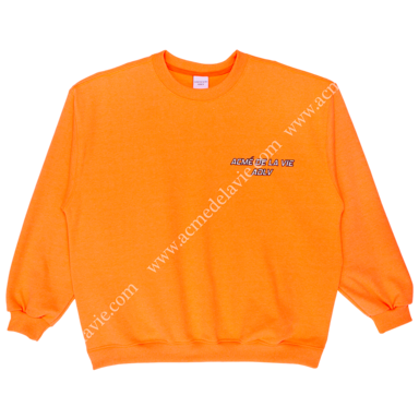 "[ACME DE LA VIE] ADLV SWEATSHIRTS ""I CAN'T TAKE IT"" NEON ORANGE 네온 오렌지 맨투맨"