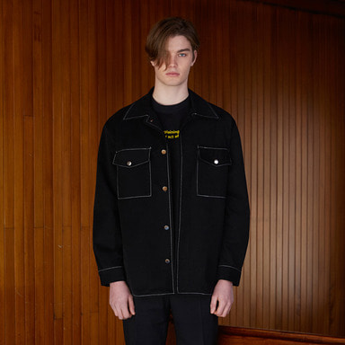 [NOVELLA] 18SS POCKET SHIRTJACKET BLACK