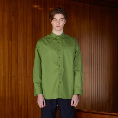 [NOVELLA] 18SS UNUSUAL SHIRT YELLOWISH GREEN