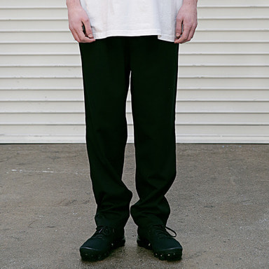 [MASSNOUN] BEND LOOSE WIDE SLACKS MSETT001-BK