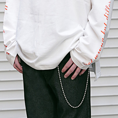 [MASSNOUN] CHAIN DRIP KEY RING MSEAA002-SV