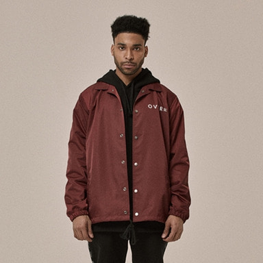 [OVERR] 18SS BURGUNDY COACH JACKET