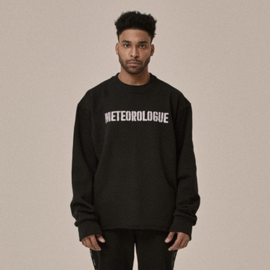 [OVERR] 18SS SENANCOUR BLACK SWEATSHIRTS
