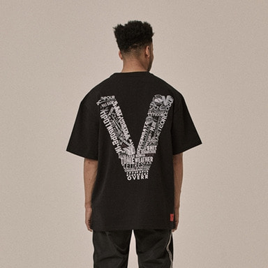 [OVERR] 18SS SYNTHESIZE BLACK TEE