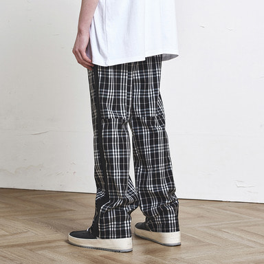 [SUMMER SALE 20% OFF] [DPRIQUE] CHECK TRACK PANTS (BLACK)