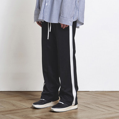 [SUMMER SALE 20% OFF] [DPRIQUE] TRACK PANTS (BLACK/WHITE)