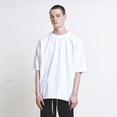 [신상발매기념 10% SALE] [DPRIQUE] OVERSIZED BASIC T-SHIRT (WHITE)