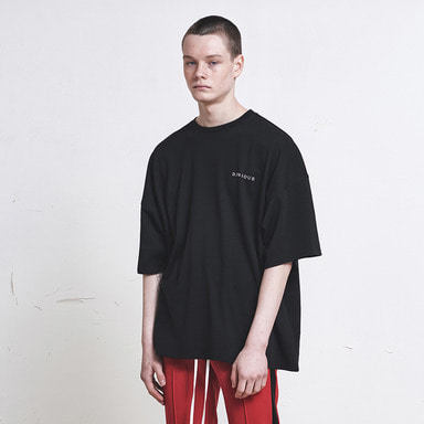 [SUMMER SALE 20% OFF] [DPRIQUE] OVERSIZED LOGO T-SHIRT (BLACK)