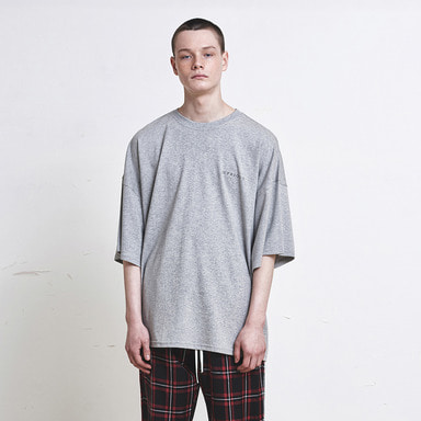 [SUMMER SALE 20% OFF] [DPRIQUE] OVERSIZED LOGO T-SHIRT (GREY)
