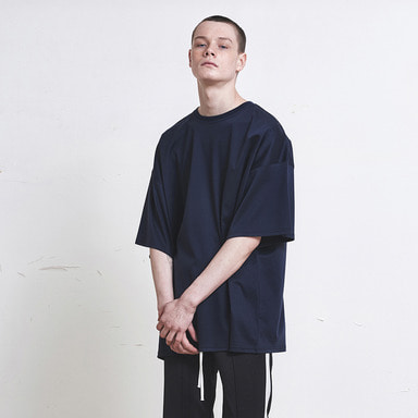 [SUMMER SALE 20% OFF] [DPRIQUE] OVERSIZED T-SHIRT (NAVY)