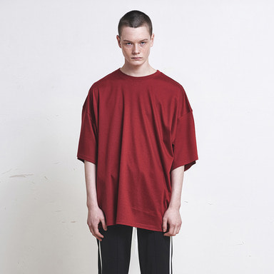 [신상발매기념 10% SALE] [DPRIQUE] OVERSIZED T-SHIRT (RED)