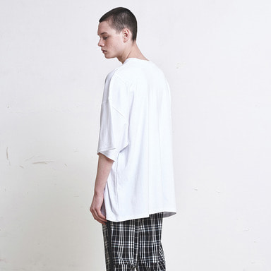 [신상발매기념 10% SALE] [DPRIQUE] OVERSIZED T-SHIRT (WHITE)