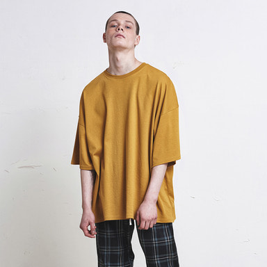 [신상발매기념 10% SALE] [DPRIQUE] OVERSIZED T-SHIRT (YELLOW)