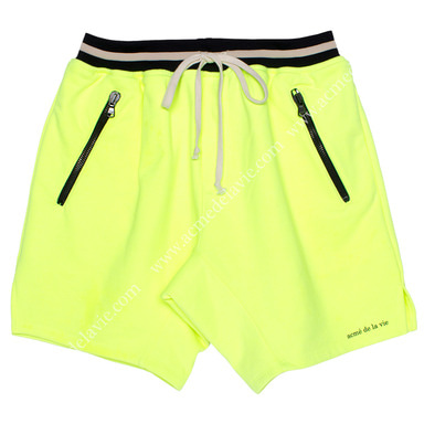 [ACME DE LA VIE]  ADLV 18SS TRAINNING SHORT PANTS (NEON YELLOW) 트레이닝 반바지 형광노랑