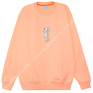 [ACME DE LA VIE] ADLV SEAHORSE SWEATSHIRTS (LIGHT ORANGE) 해마 맨투맨 라이트 오렌지 (연주황)