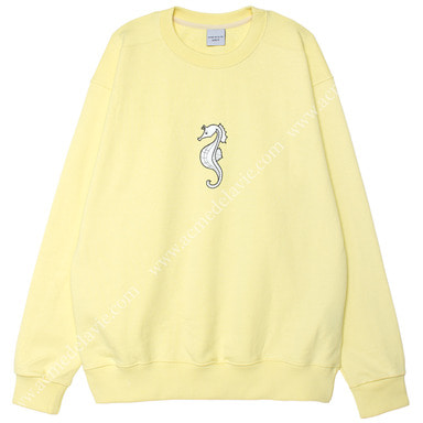 [ACME DE LA VIE] ADLV SEAHORSE SWEATSHIRTS (LIGHT YELLOW) 해마 맨투맨 라이트 옐로우 (연노랑)