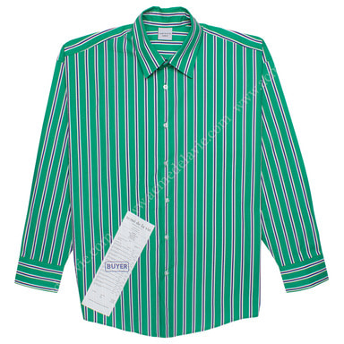 [ACME DE LA VIE] ADLV STRIPE SHIRT (GREEN) 스트라이프 셔츠 그린