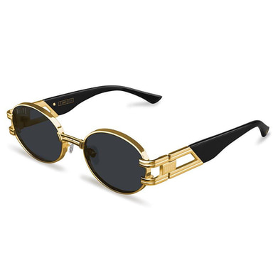 [9FIVE] ST. JAMES BLACK & 24K GOLD SUNGLASSES