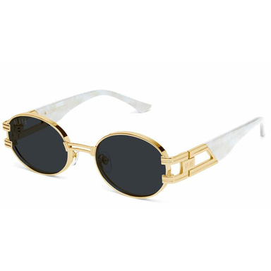 [30% PRE-ORDER SALE 5/11~5/28 예약판매] [9FIVE] ST. JAMES MARBLE CROC & 24K GOLD SUNGLASSES