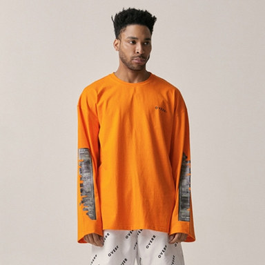 [OVERR] 18SU CITY ORANGE LS TEE