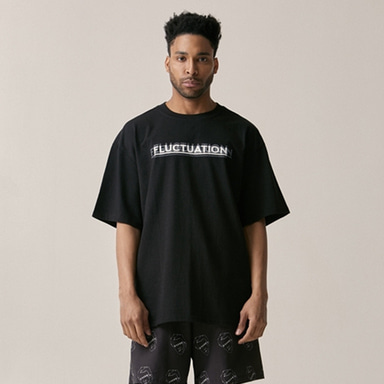 [OVERR] 18SU FLUCTUATION BLACK TEE