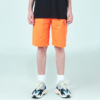 [DEADEND] ORANGE CARGO SHORTS