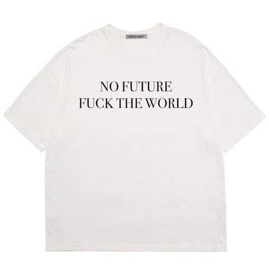 [DEADEND] WHITE NO FUTURE T-SHIRTS