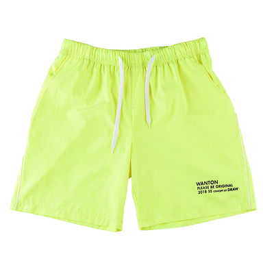 [WANTON] STRING HALF PANTS LIME
