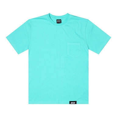 [2018 SUMMER SALE] [NSTK] EASY CODE 002 POCKET TEE (AQUA)