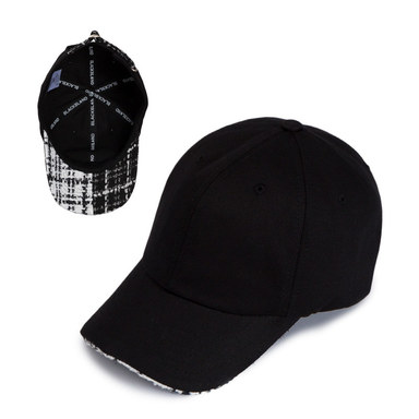 [BLACKBLOND] BBD HALF TWEED CAP (BLACK)