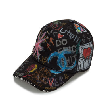 [BLACK BLOND] TWEED CAP GRAFFITI VER. (BLACK)