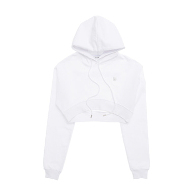 [BLACKBLOND] BBD BASIC CROP HOODIE (WHITE)