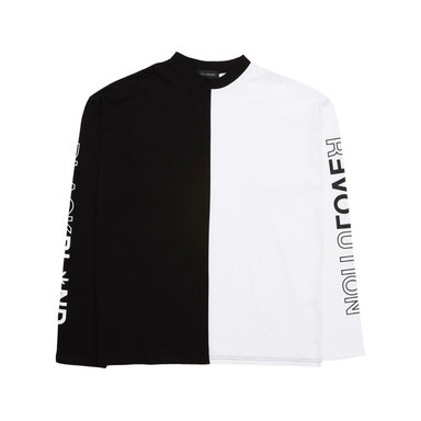 [BLACK BLOND] BBD OVERSIZE TEE (BLACK/WHITE)