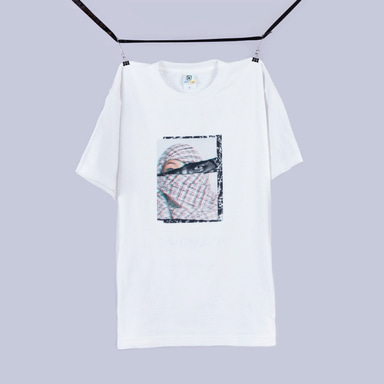 [BLACK BLOND] BBD +82 RESISTANCE TEE (WHITE)