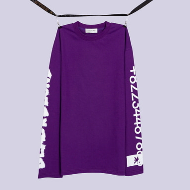 [BLACKBLOND] BBD GRAFFITI NUMBER TEE (PURPLE)