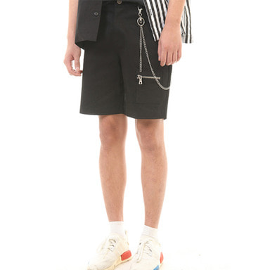 [SUMMER SALE 20% OFF] [LANG VERSIO] CHAIN 1/2 PANTS (BLACK)