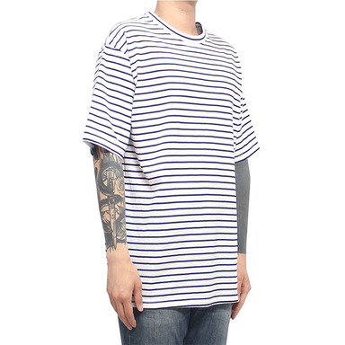 [CLACO] SQUARE STRIPE TEE (WHITE)