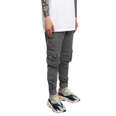 [CLACO] VELCRO MILITARY PANTS (GREY)