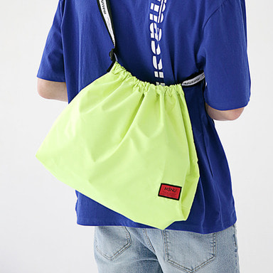 6/29 배송 [MASSNOUN] LINE SL LOGO NYLON SHOULDER BAG MSEAB003-LG