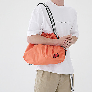 6/29 배송 [MASSNOUN] LINE SL LOGO NYLON SHOULDER BAG MSEAB003-OR