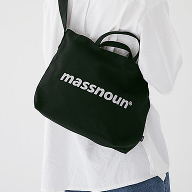 6/29 배송 [MASSNOUN] SL LOGO 2WAY ECO BAG MSEAB001-BK