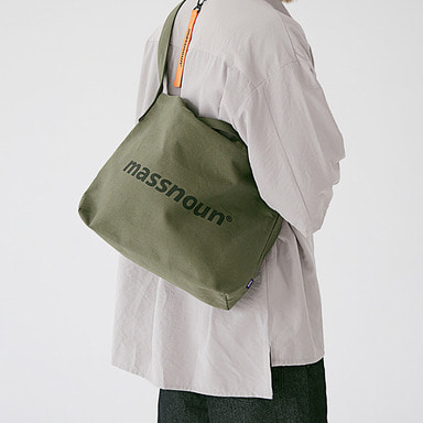 6/29 배송 [MASSNOUN] SL LOGO 2WAY ECO BAG MSEAB001-KK