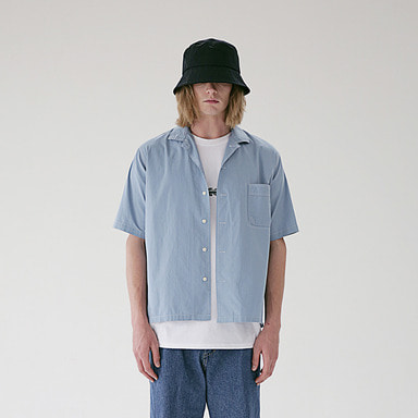 [MASSNOUN] STICH LINE POCKET BASIC SHIRTS MSEST009-BL