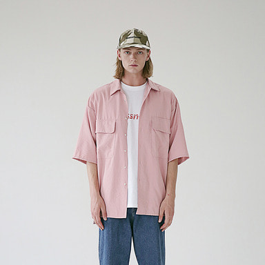 [MASSNOUN] TWO POCKET SOFT OVERSIZED SHIRTS MSEST006-PK
