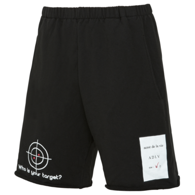 [ACME DE LAVIE] ADLV TARGET SHORT PANTS BLACK 타겟 반바지 블랙
