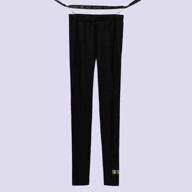 [BLACK BLOND] THREE STARS LOGO LEGGINGS (BLACK)