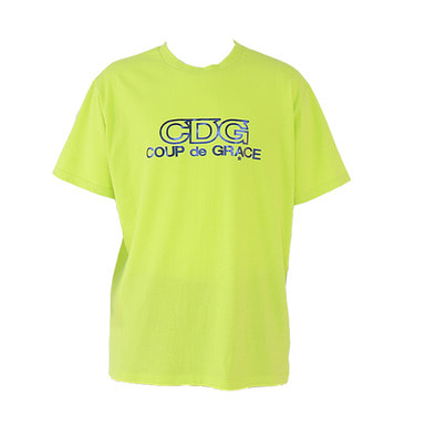 [$ SHOP SALE] [COUPDEGRACE] CDG FOIL LOGO TEE (NEON GREEN)