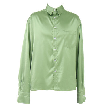 [$ SHOP SALE] [COUPDEGRACE] CDG SILKY POLY SHIRT (APPLE GREEN)