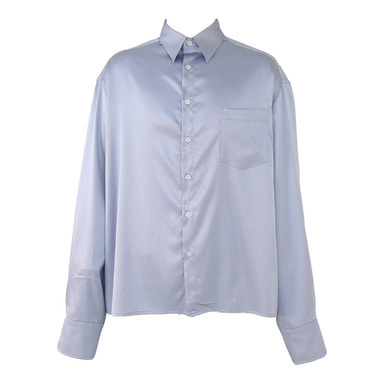 [COUPDEGRACE] CDG SILKY POLY SHIRT (PURPLE GRAY)
