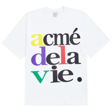 [ACME DE LA VIE] ADLV 4COLOR BIG LOGO TEE (WHITE)